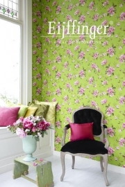 Behangpapier Groen Roze Bloemen 310005