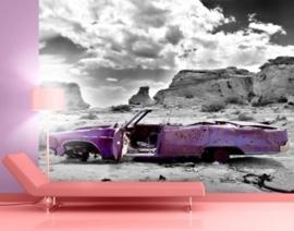 Fotobehang Cadillac in Pink 56