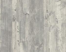 Behangpapier Sloophout Grijs 95405-4