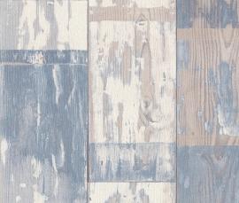 Behangpapier Sloophout Blauw 587128
