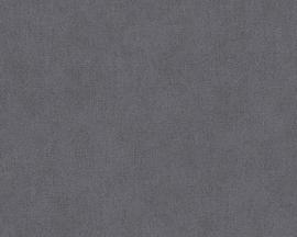 Behangpapier Uni Grijs Zwart 30175-8