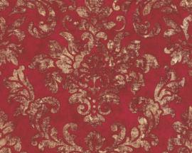 klassiek barok behang rood goud 37413-1