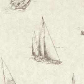 Behangpapier Voyage Zeilboot 2604-21201