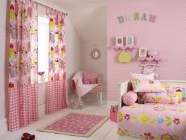 136458 roze wit sterren behang
