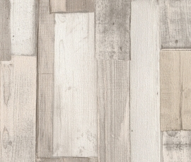 Factory 2 Hout Behang beige 446715