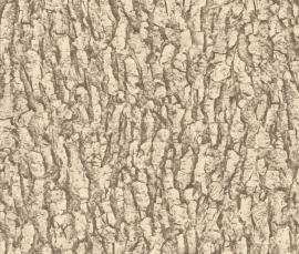 Boomschors bruin beige behang 514216