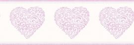Carousel kinder behangrand DLB50078 Hearts lila