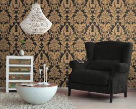 barok behang zwart goud 280234