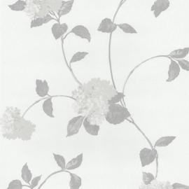 Behangpapier Bloemen Grijs creme 13180-30
