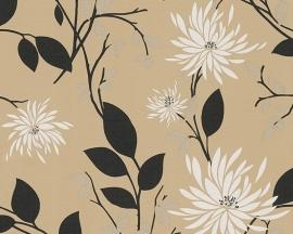 Behangpapier bloemen beige,bruin 95716-1