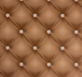 Chesterfield-Look met 3D diamanten behang 34144-3