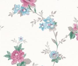 Behangpapier Rasch Sophie Charlotte behang bloemen 440607