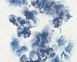Metropolis bloemen behangpapier 93928-3 blauw