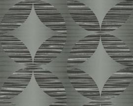 Retro behang vlies grijs XXX25