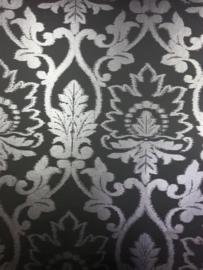 230550 zwart modern barok behang