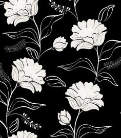 Bloemen Behang Zwart 6699 -16