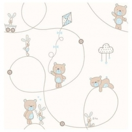 Carousel behang DL21102 Teddies