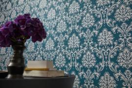 blauw barok behang 35702-1