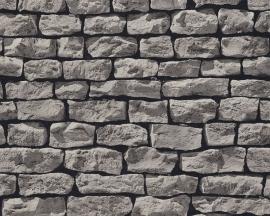 Behang Stenen grijs  9079-29