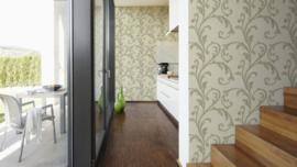 lambrisering behang vintage klassiek 95643-2
