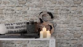 Steen behang beige grijs taupe 36370-2