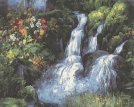 behang natuur waterval 013