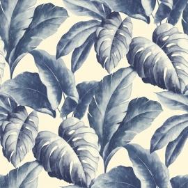 Bladeren Behang Natuur BA2402 blauw