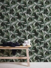 tropical floral behangpapier groen 37530-3