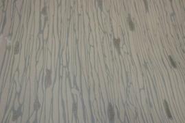 creme goud Lambrisering behang vlies 18