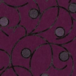 Behangpapier Paars Cirkels 02420-50