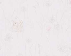Lovely Friends konijnen kinder behangpapier 30332-3
