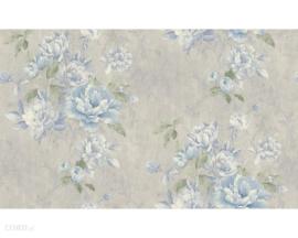 Bloemen behang blauw 30565-3