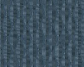 Around the World behang 30417-4 retro blauw