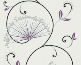 Behangpapier Bloemen Glitter Paars 96117-2