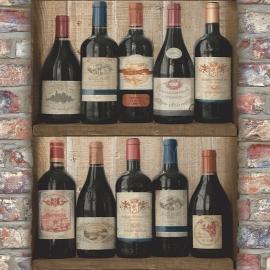 Behangpapier Wijnflessen  EW3901