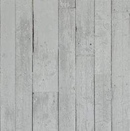 Sloophout Behang Grijs 49796