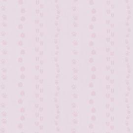 Happy Kids kinder behang 05575-20 Voetafdrukken roze