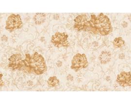 goud bloemen behang dubbelbreed 959683