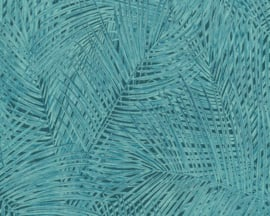 tropical floral behangpapier groen/blauw 37371-6