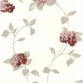 Behangpapier Bloemen Rood 13180-20