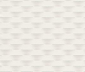 Strepen Geweven Behang Off-White 726466