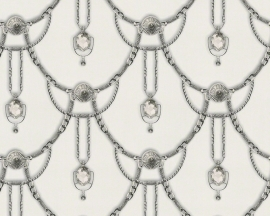 Behangpapier Diamanten Grijs Zilver 94353-4