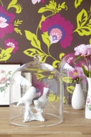 Bloemen Behang Paars 321806
