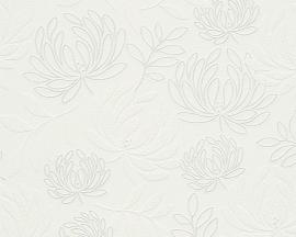 Behangpapier Bloemen wit  96116-1