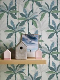 tropical floral behangpapier groen 37530-1