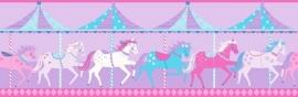 Carousel behangrand DLB50081 Horses
