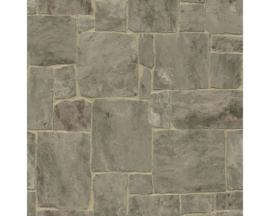steen behangpapier grijs 3d xx91