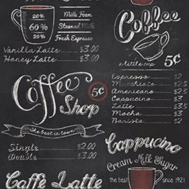 Brocante Coffee Shop Behang 234602