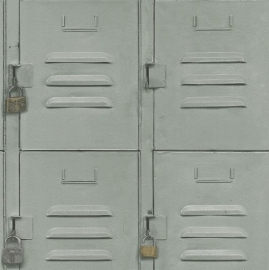 Metalen kasten Behang 524222 Grijs