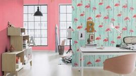 flamingo behang vogel dieren   479706